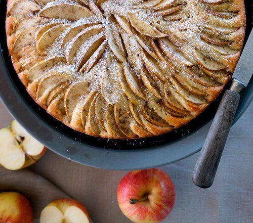Cardamom & Lemon Apple Cake
