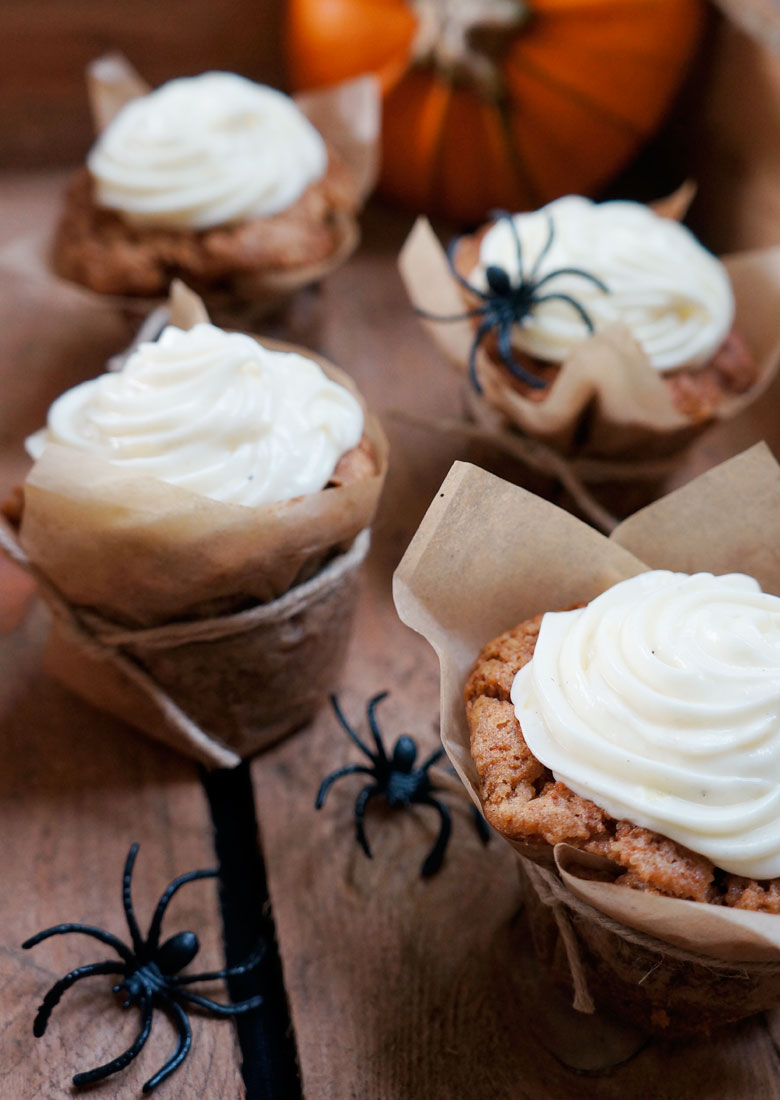 Halloween Carrot Cupcake
