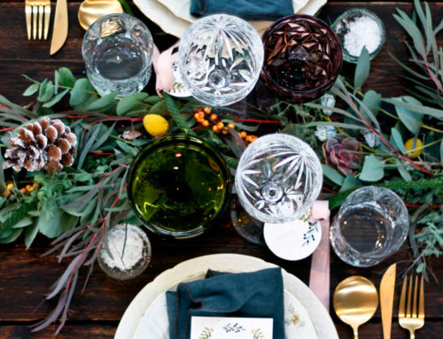 Traditional Christmas table with a twist