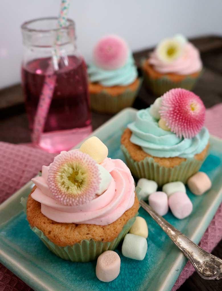 Spring blueberry/raspberry cupcake